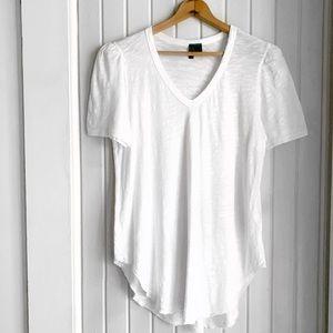 Anthropologie Left of Center White Tee Shirt